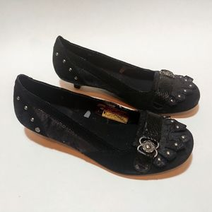 London Underground goth kitten heel flats shoes
